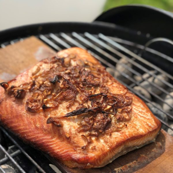 Best oak planked salmon with Bordoak